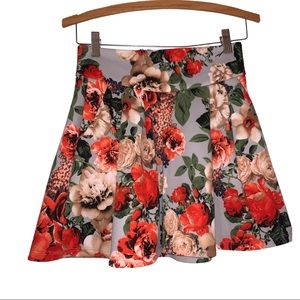 Potters Pot Floral High Waisted Mini Skirt